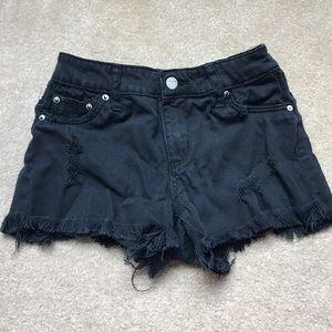 Girls black shorts.